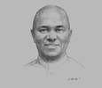 Sketch of Emmanuel Ibe Kachikwu, Minister of State for Petroleum Resources