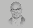 Sketch of Nick Zaranyika, CEO, Total Health Trust