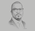 Sketch of Chinua Azubike, Managing Director and CEO, InfraCredit