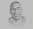 Sketch of Ibukun Adebayo, Head of Middle East, Africa and South Asia, International Markets Unit, London Stock Exchange Group (LSEG)