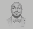 Sketch of Seun Anibaba, General Manager and CEO, Lagos State Lotteries Board