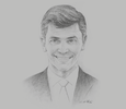 Sketch of Steve Tzikakis, President, SAP South Europe, the Middle East and Africa