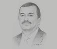 Sketch of Mohamed Arkab, CEO, Sonelgaz