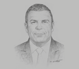Sketch of Nabil Assaf, Representative, Food and Agriculture Organisation of the UN