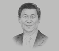 Sketch of Xi Jinping, President of the People's Republic of China