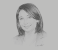 Sketch of Fatma Zohra Zerouati, Minister of Environment and Renewable Energy