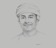 Sketch of Waleed Al Hashar, CEO, Bank Muscat