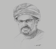 Sketch of Ahmed Saleh Al Jahdhami, CEO, Oman Oil Refineries and Petroleum Industries Company (Orpic)