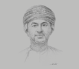Sketch of Ali bin Masoud Al Sunaidy, Minister of Commerce and Industry