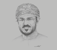 Sketch of Sheikh Salim bin Ahmed Al Ghazali, Chairman, Golden Group of Companies