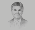 Sketch of Peter Walichnowski, CEO, Oman Tourism Development Company (Omran)