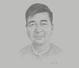Sketch of U Nyo Myint, Vice-Chairman, Myanmar Insurance Association