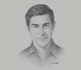Sketch of Parag Khanna, Founder and Managing Partner, FutureMap