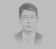 Sketch of He Bi Qing, CEO, ICBC Yangon