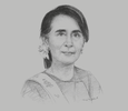 Sketch of State Counsellor Daw Aung San Suu Kyi