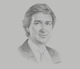 Sketch of Javier Rielo, Vice-President, Total Asia Pacific