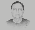 Sketch of U Win Khaing, Minister of Electricity and Energy