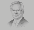 Sketch of Serge Pun, CEO, New Yangon Development Company