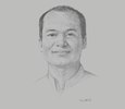 Sketch of U Aung Nyi Nyi Maw, Managing Director, Yangon Region Transport Authority