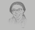 Sketch of Vera Songwe, Under-Secretary-General and Executive Secretary, UN Economic Commission for Africa (UNECA)