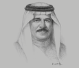 Sketch of King Hamad bin Isa Al Khalifa
