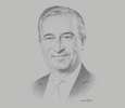 Sketch of Jeff Zabudsky, CEO, Bahrain Polytechnic