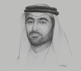 Sketch of Mohammed Ali Al Qaed, Chief Executive, Information and eGovernment Authority (iGA)