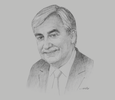 Sketch of Jean-Christophe Durand, CEO, National Bank of Bahrain (NBB)