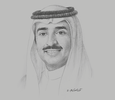 Sketch of Sheikh Mohammed bin Khalifa bin Ahmed Al Khalifa, Minister of Oil