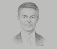 Sketch of Paul McDade, CEO, Tullow Oil