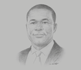 Sketch of Eric Asubonteng, President, Ghana Chamber of Mines (GCM); and Managing Director, AngloGold Ashanti (Ghana)