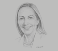 Sketch of Rona Fairhead, Minister of Trade and Export Promotion, UK Department for International Trade (DIT)