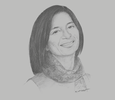 Sketch of Reeta Roy, CEO and President, Mastercard Foundation
