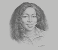 Sketch of Catherine Afeku, Minister of Tourism, Arts and Culture