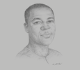 Sketch of William Senyo, Co-founder and CEO, Impact Hub Accra