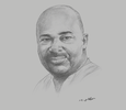 Sketch of Michael Okyere Baafi, Executive Secretary, Ghana Free Zones Authority