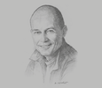 Sketch of Bertrand Piccard, Founder and President, Solar Impulse Foundation; and UN Ambassador