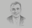 Sketch of Farid Bensaïd, CEO, Ténor Group; and President, National Federation of Insurance Agents and Brokers