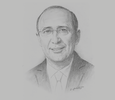 Sketch of Hassan Boubrik, President, Supervisory Authority of Insurance and Social Welfare