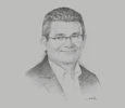 Sketch of Jean Christophe Quemard, Executive Vice-President for the MENA region, Groupe PSA