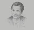 Sketch of Mohamed Benchaâboun, Minister of Economy and Finance
