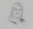 Sketch of Laila Mechbal, CEO, Air Arabia Maroc