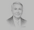 Sketch of Mohammed Sajid, Minister of Tourism, Air Transport, Crafts and Social Economy