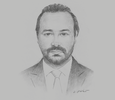 Sketch of Ahmed Benyahia, CEO, Holding Générale de l'Education