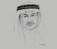 Sketch of Humaid Al Qutami, Director-General, Dubai Health Authority (DHA)