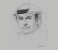 Sketch of Sami Al Qamzi, Director-General, Department of Economic Development (DED)
