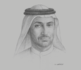 Sketch of Mohammed Al Zarooni, Director-General, Dubai Airport Freezone Authority (DAFZA)