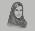 Sketch of Jameela Salem Al Muhairi, Minister of State for General Education
