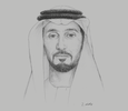 Sketch of Sheikh Abdulla bin Mohammed Al Hamed, Chairman, Department of Health (DoH)