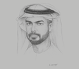 Sketch of Saif Saeed Ghobash, Undersecretary, Department of Culture and Tourism – Abu Dhabi